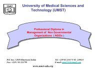 University of Medical Sciences and Technology (UMST) - Institute for ...