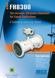 The Versatile Ultrasonic Flowmeter for Liquid ... - Faure Herman