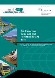 Top Exporters in Ireland and Northern Ireland 2011 - IDA Ireland