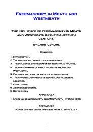Freemasonry in Meath and Westmeath - Irish Masonic Jewels