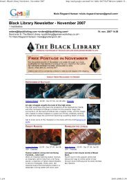 Gmail - Black Library Newsletter - November 2007 - Gnollengrom