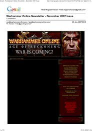 Gmail - Warhammer Online Newsletter - December ... - Gnollengrom