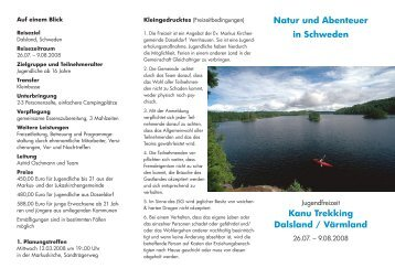 Natur und Abenteuer in Schweden Kanu Trekking Dalsland ...