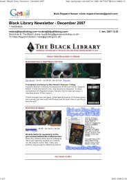 Gmail - Black Library Newsletter - December 2007 - Gnollengrom
