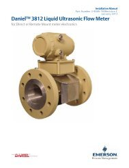 3812 Liquid Ultrasonic Meter - Emerson Process Management