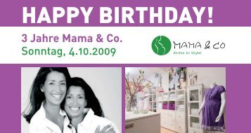 HAPPY BIRTHDAY! - Mama & Co.
