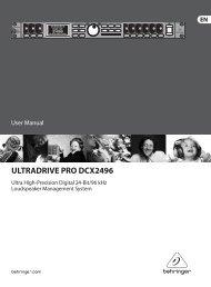 ULTRADRIVE PRO DCX2496 - Behringer