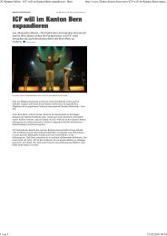 20. Mai 2010 - 20minuten, Church Rocks (pdf) - ICF Bern