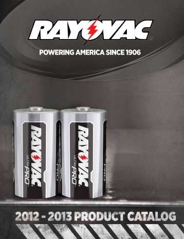 Rayovac Industrial Catalog - Dynamic Sales Company Inc.