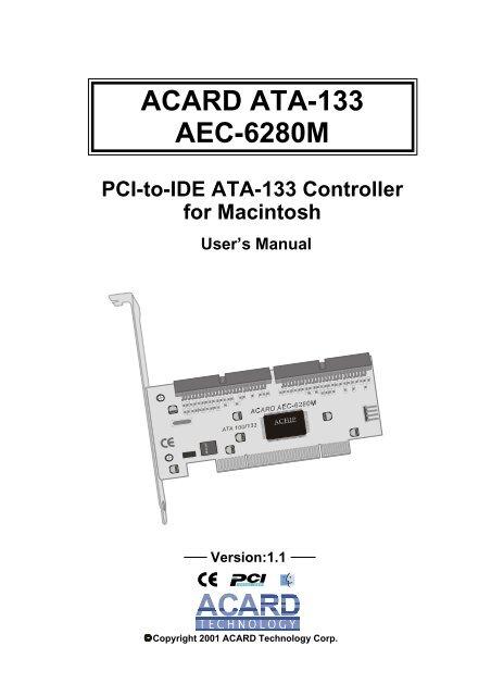 ACARD AEC-6880 Ultra ATA133 RAID Controller 64x