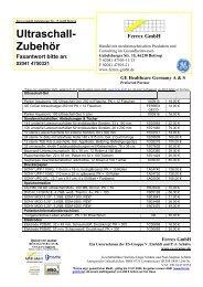 Ultraschall- Zubehör - Ferrex GmbH