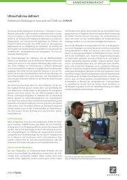 Ultraschall neu definiert ANWENDERBERICHT - ZONARE Medical ...