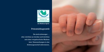 Flyer Praenataldiagnostik RZ - Die Mathias Stiftung