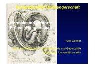 Normale und gestörte Frühschwangerschaft - Klinik und Poliklinik für ...