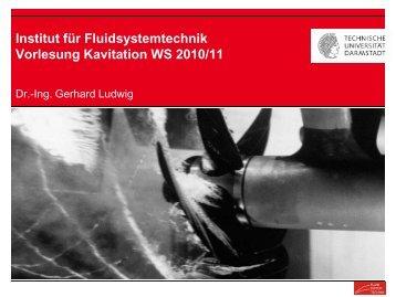 1.3 Formen der Kavitation - Technische Universität Darmstadt