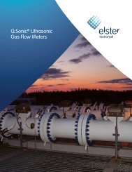 Q.Sonic® Ultrasonic Gas Flow Meters - Elster American Meter