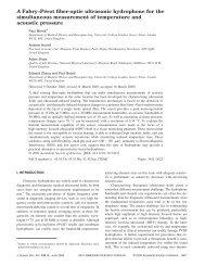 A Fabry–Pérot fiber-optic ultrasonic hydrophone for - UCL ...