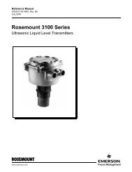 Manual: Rosemount 3100 Series Ultrasonic Liquid Level Transmitters
