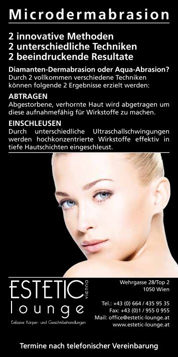 Download Microdermabrasion - estetic-lounge vienna