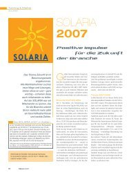 SOLARIA 2007 - Health and Beauty Holding