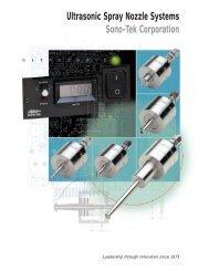 Ultrasonic Spray Nozzle Systems Sono-Tek Corporation