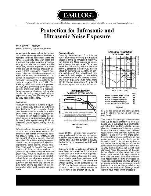 Protection for Infrasonic and Ultrasonic Noise Exposure