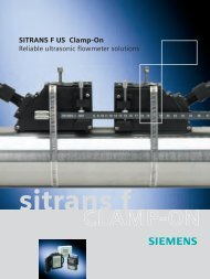 Siemens SITRANS FUS Clamp-On Ultrasonic Flowmeters - Lesman ...