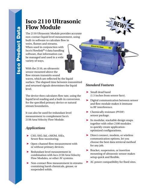 Isco 2110 Ultrasonic Flow Module