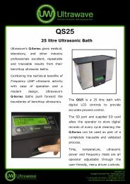 QS25 25 litre Ultrasonic Bath - Veterinary Instrumentation