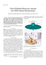 Ultra-Wideband Monocone Antenna for UWB Channel ... - Ensta