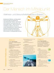 Wellness- und Gesundheitsfeatures in Solarien - body LIFE