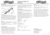 Walther Zielfernrohr 3-9x40 Abs. 8 Bedienungsanleitung D