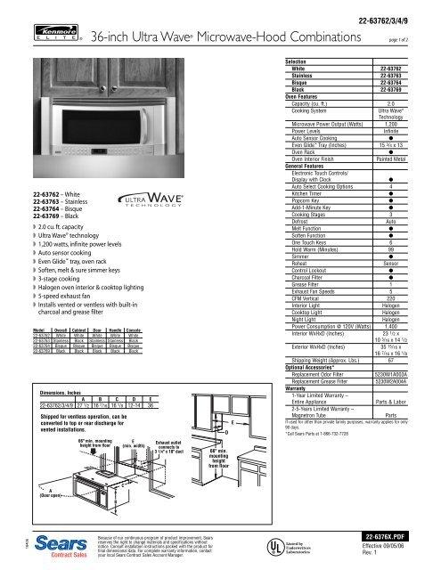 36 Inch Microwave Hood Combinationbestmicrowave