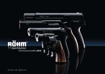 Blank Firing Guns Schreckschusswaffen 2010 - Röhm