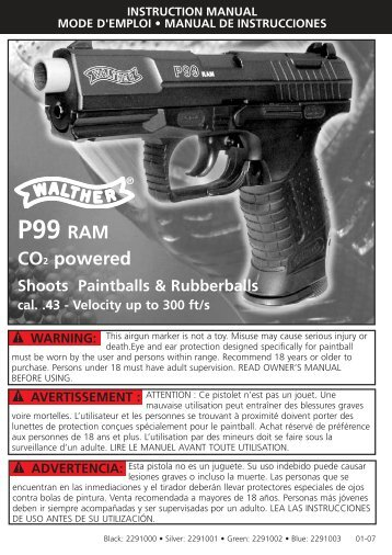 p99 ram maintenance manual how to troubleshooting manual guide rh samnet co Walther P22 Walther P99 Blowback CO2
