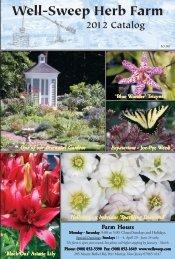 2012 Catalog - Well-Sweep Herb Farm