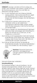 Laserliner StarFinder - UMAREX GmbH & Co.KG - Page 6