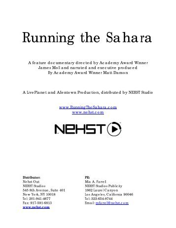 Running the Sahara Official Press Kit