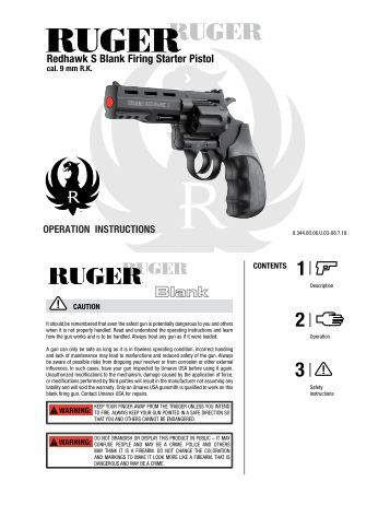 RUGER ® LCR TM EXPLODED