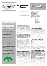Bulletin Telegraf - fairlife