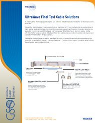 UltraWave Final Test Cable Solutions Page 1 - Teradyne GSO