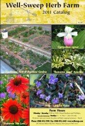 2011 Catalog - Well-Sweep Herb Farm