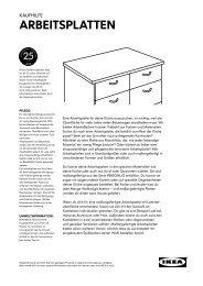 Die richtige Arbeitsplatte (PDF) - Ikea