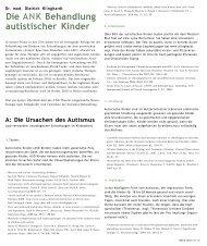 Die ANK Behandlung autisticher Kinder - Cinak