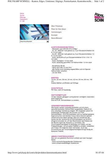 Side 1 af 2 POLYKARP SCHNELL - Kanten, Edges, Umleimer ...