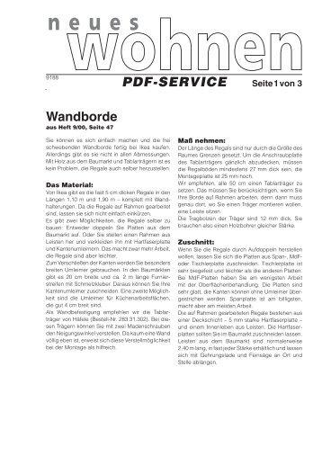 Bauanleitung (PDF) - Living at Home