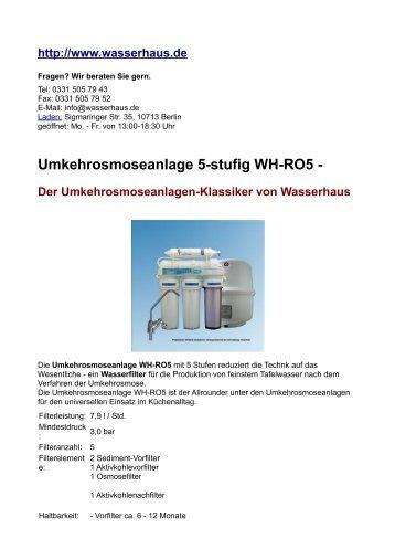 Umkehrosmoseanlage & Biophotonik