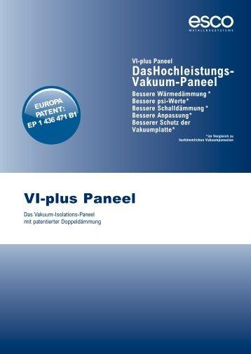 VI-plus Paneel - esco | Metallbausysteme - esco Metallbausysteme ...