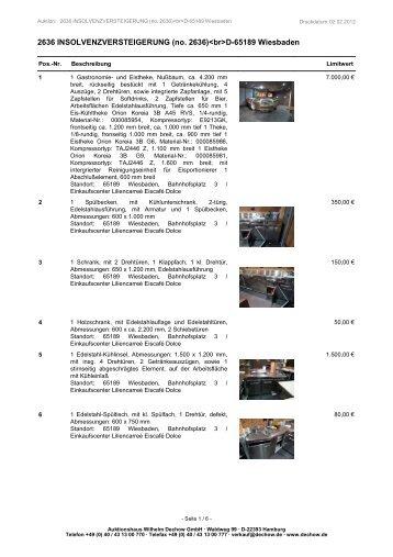 (no. 2636)D-65189 Wiesbaden - Auktionshaus Wilhelm ...