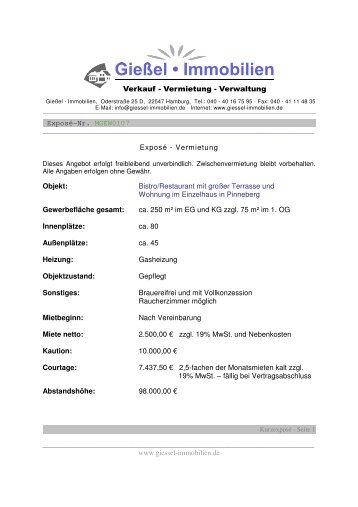 Exposé des Objekts als PDF - Gießel Immobilien